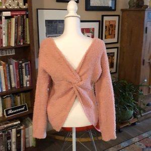 Hippie Rose wear two ways blush sweater